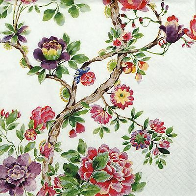 4 Single Table Party Paper Napkins for Decoupage Decopatch Craft Japanese Garden