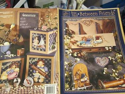 Briar Patch Between Friends Painting Book-Combined Artists-Dolls/Sayings/Garden