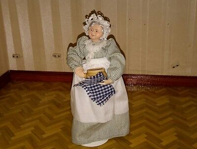 Dolls house lady cook artisan doll