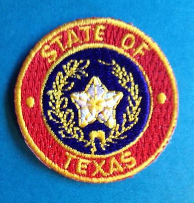 Rare Texas State Seal Flag Iron On Hat Jacket Biker Vest Travel Patch Crest