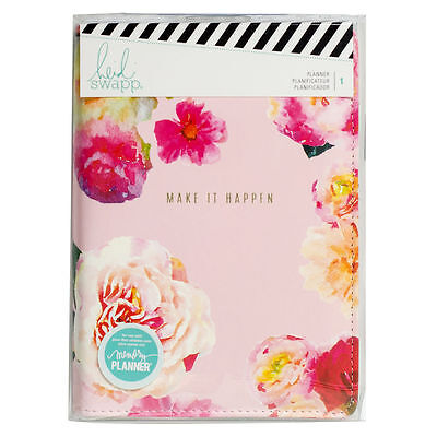 NEW Heidi Swapp PINK Flower Personal 12-Month Planner, Make It Happen