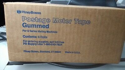 NEW - Pitney Bowes 627-2 Postage Meter Tape - Gummed - 6 Rolls per box!