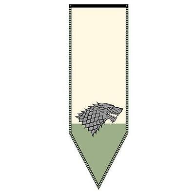 Game of Thrones Stark Winterfell Banner-New in Package-HBO Licensed