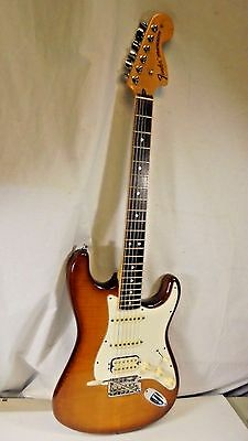 USA Fender American SELECT Stratocaster Quilt Flame Top Guitar & Tweed Case
