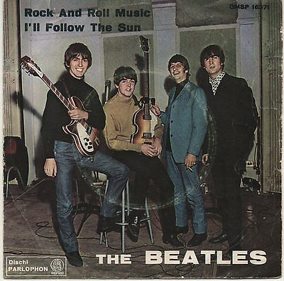 THE BEATLES  Rock and roll music / I'll follow the sun      ITA   Green Label