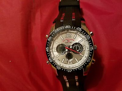 Accutime U.s. Polo Assn. Watch W/many Features, Adjustable Silicone Band-Us9061