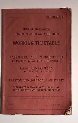 London Midland Region Working Timetable Section CB May 1990-91
