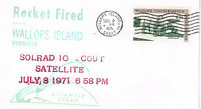 Space Cover 1971  Rocket Fired From Wallops Island Virginia Unaddressed