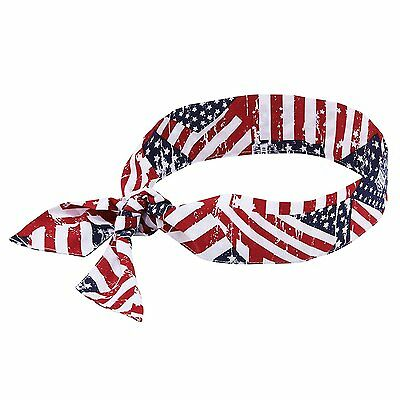 Ergodyne Chill-Its 6700 Evaporative Polymer Cooling Bandana - Tie Closure, Stars
