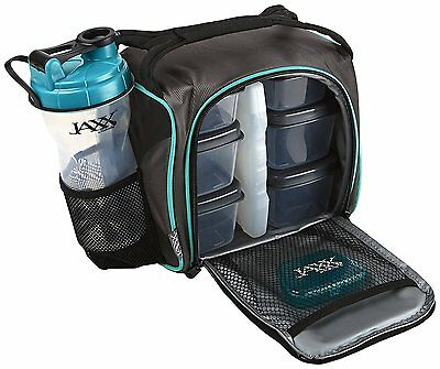 Fit and Fresh Jaxx FitPak with Portion Control Container Set and Shaker Cup,