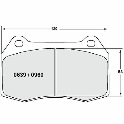 Performance Friction Front Race Ready Brake Pads .38 Z-Rated Compound 17mm Thick