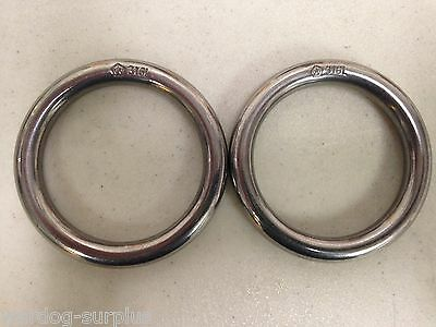 Lot of 2 Wichard 316L Stainless Steel Forged Tactical Military Webbing ring 45mm