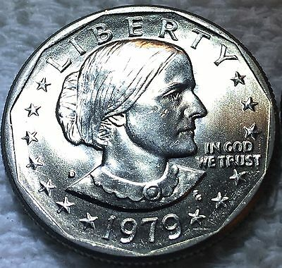 1979-D Susan B. Anthony Sba 1$ Dollar Unc From Obw Roll Wow Look