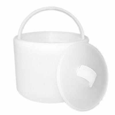 Party Essentials Hard Plastic 6-1/2 Ice Bucket with Lid, Translucent