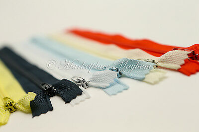 Assorted/Mixed Colours -Closed End Zips - Autolock - Cushion/Dress/Trouser/Skirt