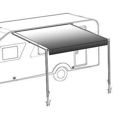 ALEKO Retractable RV or Home Patio Awning White to Black Fade Color 8 Ft X 8Ft