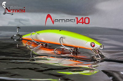 Artificiale Nemesi 140 Ss Colore Hel Spinning Lure Italy Pesca Long Jerk Señuelo