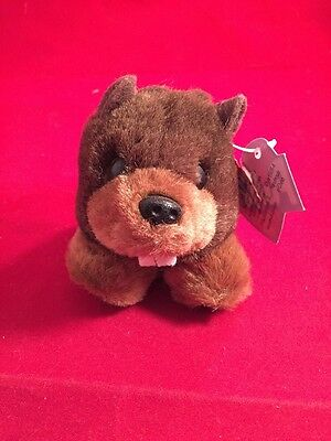 Retired Swibco PUFFKINS Beaver Chomper w/torn tag attached Key Ring