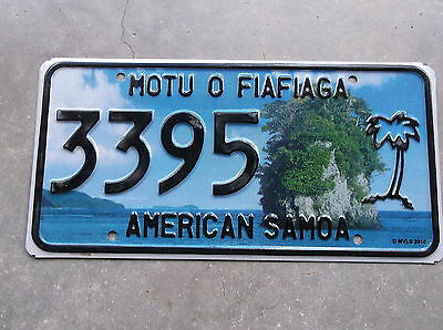 American Samoa Palm tree License Plate # 3395