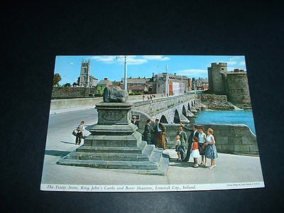 Ireland  Postcard The Tready Stone King Johns Castle And River Shannon