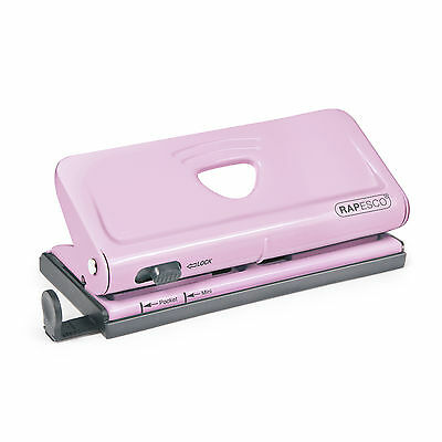 Rapesco Adjustable 6-Hole Organiser/ Diary Punch (Pink) - RPC1322