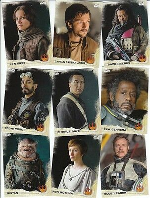 Star Wars Rogue One Series 1 (One): 90 Card Basic/Base Set - Topps 2016