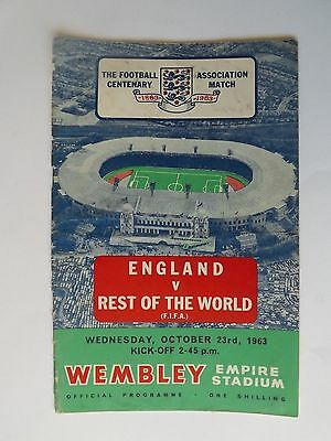 1963 Wembley ENGLAND v Rest of the World Oct 23rd