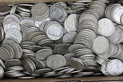 Roll Of Roosevelt Dimes 90% Silver 1946-64 (50 Coins) $5 Face Value