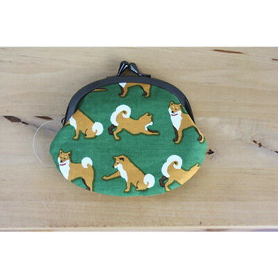 Purses L Shiba dog inu Green cute wallet coin purse pouch NEW