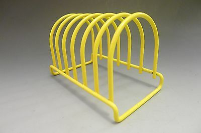 Vintage 1980s yellow HABITAT toast rack
