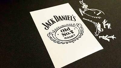 Jack Daniel's Tennessee Old No 7 Honey Whisky Drink Airbrush Stencils Fire