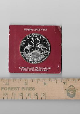 Sterling (.925) Silver BAHAMAS Two Dollars 1973 Proof ~ Franklin Mint