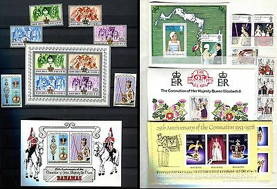 Qeii Silver Jubilee ** 30 Mint Stamps ** Bahamas , Turks & Caicos ** 1977 - 1978