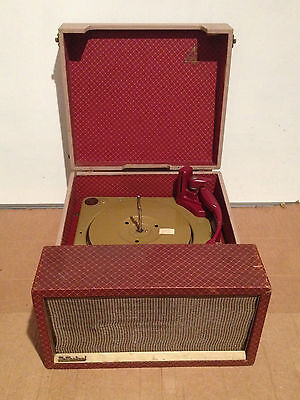 Vintage 1950s McMichael Twin-4 Valve Record Player MK1 Red Collaro Deck