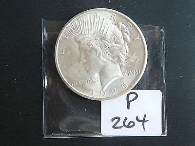 Vintage Usa 1925 Silver Dollar Peace Type High Quality    P264