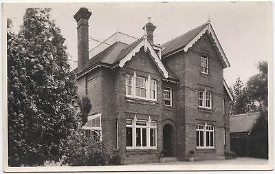 Real Photo Postcard Edwardian Gable House Tall Chimney Unknown Location Where?