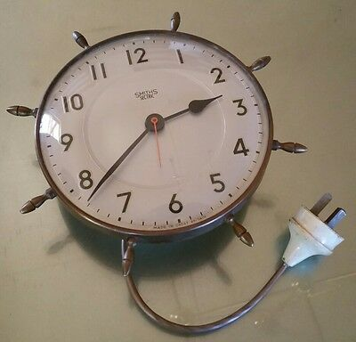 Old Vintage Retro Smiths Setric Electric Kitchen House Wall Clock