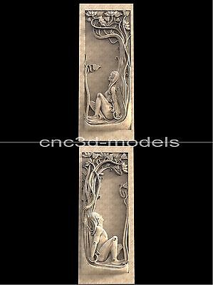 3D STL Models for CNC Router Engraver Carving Artcam Aspire Women Girl Door 211