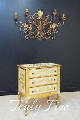 Florentia Hand made Italian French Louis XV Nightstand Hall End Table Console