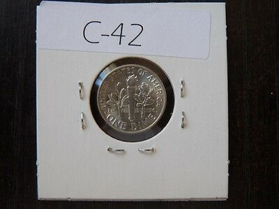 Vintage Usa 1947 10 Cent Silver Very  High Quality     C42
