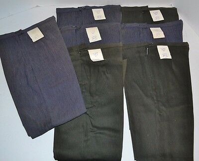 VINTAGE 1960's Lot of 7 Pairs Youth Comfort Fit FLARE LEG Pants Cotton/Nylon NOS