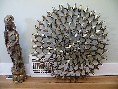 Large MARC CREATES Brutalist Metal STARBURST Sculpture Midcentury C. Jere