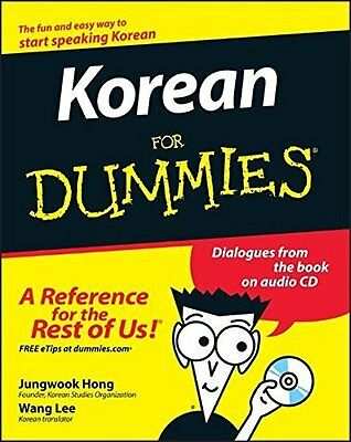 Korean For Dummies by Jungwook Hong Paperback Book New