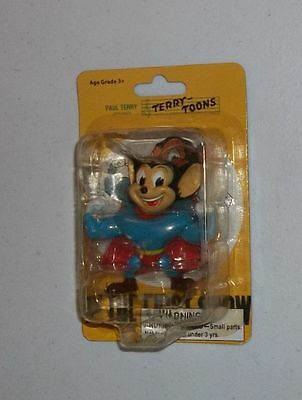 """New MIGHTY MOUSE 3"""" PVC Figurine/Action Figure/Toy~Paul Terry Toons~Cake Topper"""