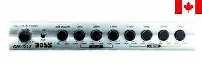 BOSS AVA1210 7 Band Pre-amp Equalizer with Subwoofer Output with Master Volum...