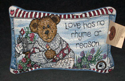 Boyds Bears Love Letters Tapestry Word Pillow