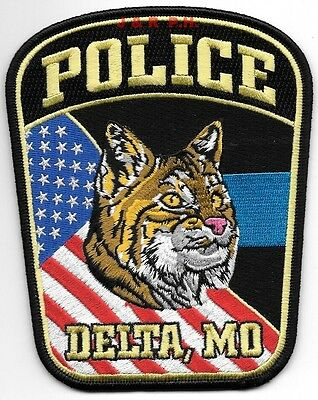 "Delta, MO (4.25"" x 5.25"" size) shoulder police patch (fire)"