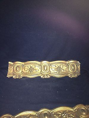"1920's 18 3/4"" Ornate Brass Pediment"