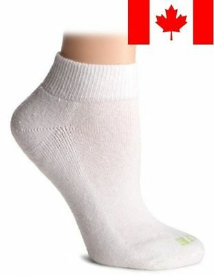 HUE Women's Quarter Top Sock with Cushion, 6-Pack, White