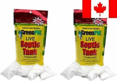 GreenPig Solutions 53 Concentrated Formula Live Septic Tank Treatment, 2 Year...